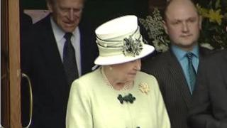 Mark Houston pictured with the Queen on her visit in 2008