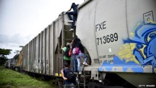 Train in Mexico