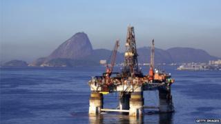 Oil rig off Rio de Janeiro