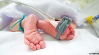 New born baby's feet
