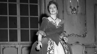 Italian soprano Magda Olivero (undated photograph)