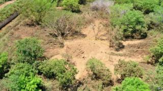 Picture of the crater near the Managuan airport in Nicaragua