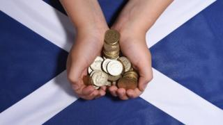 Saltire and pound coins