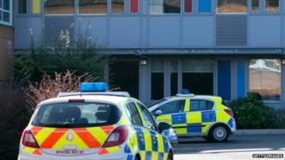 Police outside the school