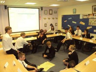 Classroom discussion is part of the approach at the school