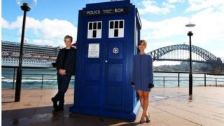 Peter Capaldi and Jenna Coleman in Sydney, Australia