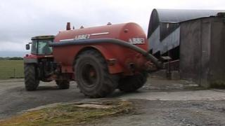 Tractor on farm