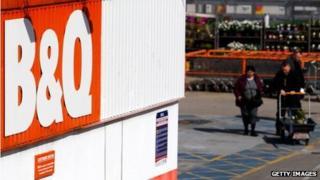 shoppers entering a B&Q store