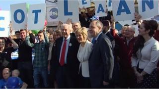 Ailig Salmond, Jim Sillars agus Nicola Sturgeon