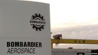 Bombardier plant in Belfast