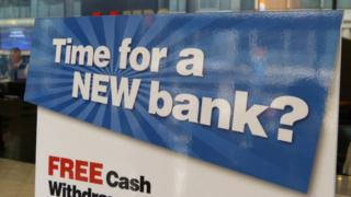 Time for a new bank? sign