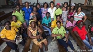 The women of Butterflies with New Wings in Buenaventura