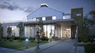 Artist's impression of Bicester Community Hospital