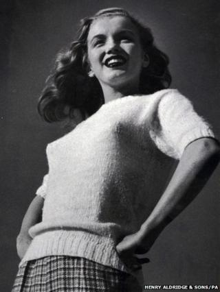 Rare negative of Marilyn Monroe during her first professional photo shoot
