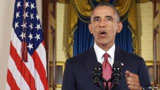 Barack Obama has urged the international community to come together against the Islamic State