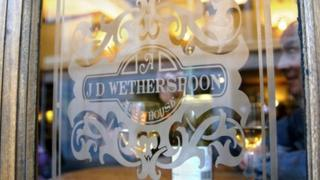 A JD Wetherspoon logo
