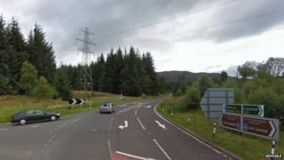 A85/A827 junction