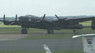 The Canadian Lancaster at Bournemouth