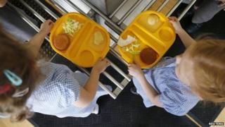 Infants with school meals