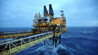 The BP ETAP (Eastern Trough Area Project) oil platform in the North Sea around 100 miles east of Aberdeen, Scotland