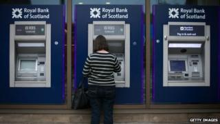 RBS cash machines