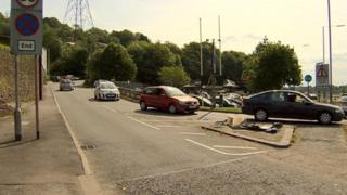 Scene of collision in Briton Ferry