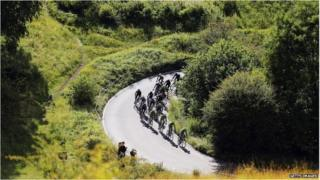 Box Hill and cyclists