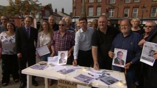 Andy Burnham and members of the public