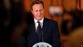 David Cameron gives statement in Downing Street on 14 September 2014