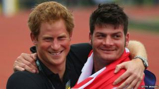 Prince Harry and Dave Henson, captain of the British team