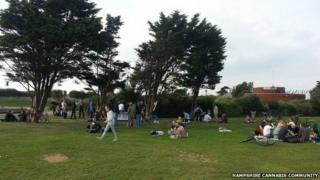 Cannabis picnic