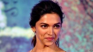"Bollywood actress Deepika Padukone at a promotional event for her new Hindi film ""Finding Fanny"" in Mumbai on August 11, 2014."