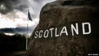 Scottish border stone