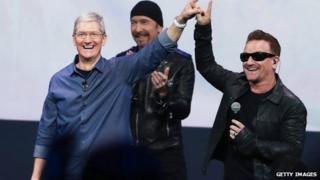 Tim Cook and U2