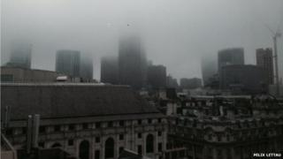 Moorgate in central London on Tuesday morning