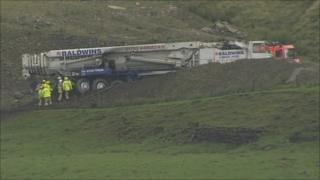 Emergency services at Scout Moor quarry