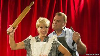 Emma Thompson and Bryn Terfel as Mrs Lovett and Sweeney Todd