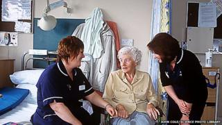 Nurses and patient at a district hospital