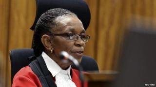 Judge Thokozile Masipa delivers her judgement in court, 12 September 2014