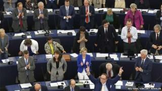 MEP's in Strasbourg on 16 September 2014.
