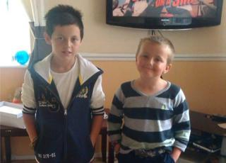 Tyler Green, 9, and Jordan Green, 12