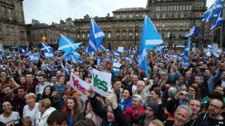 Yes rally in George Square, Glasgow