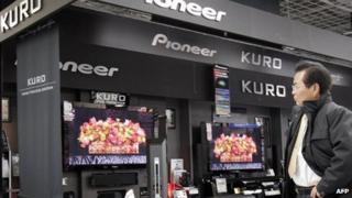 Pioneer TV screens display