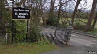 Entrance to St Brigid's school