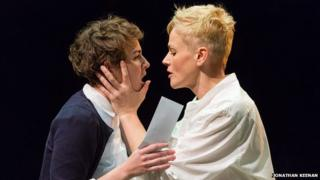 Maxine Peake and Katie West in Hamlet
