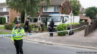 Bomb squad in St Albans