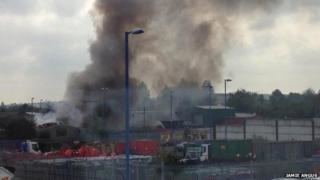 Fire at Fletcher Metals