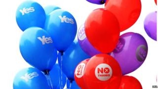 Yes and No balloons