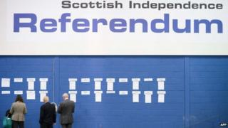 Scotland has seen a high voter turnout in the referendum