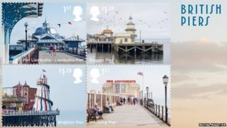 UK seaside stamps
